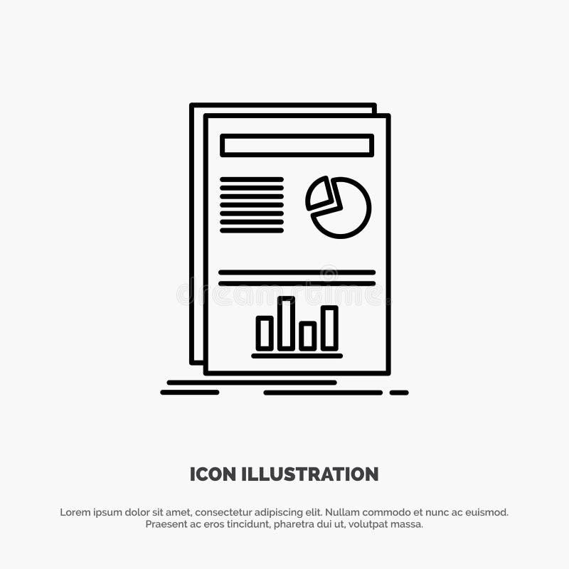 Presentation, Layout, Graph, Success Line Icon Vector stock illustration