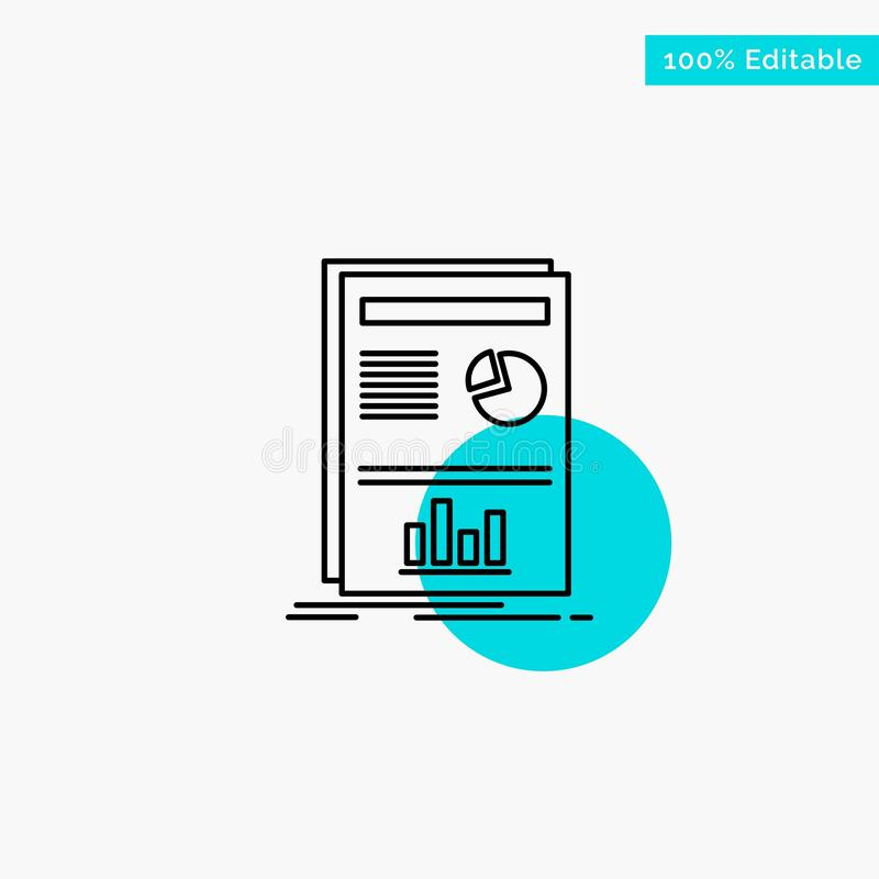 Presentation, Layout, Graph, Success turquoise highlight circle point Vector icon vector illustration