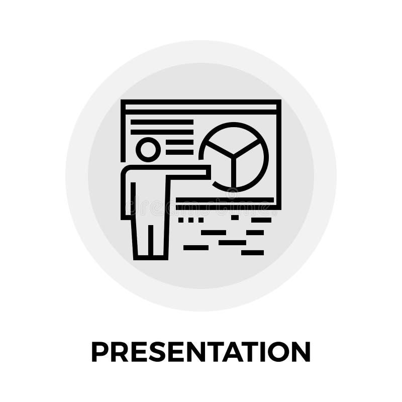 Presentation Line Icon royalty free illustration