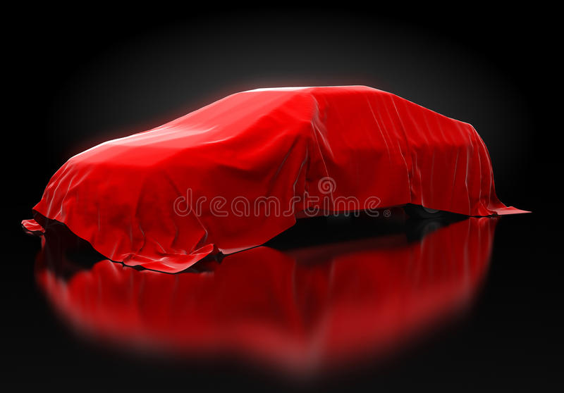 Presentation of the new car stock photography