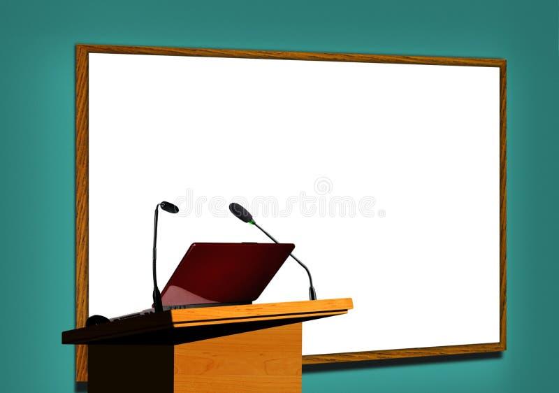 Presentation på seminariet royaltyfri illustrationer