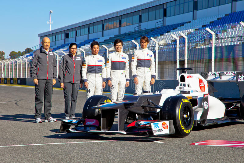 Presentation of the Sauber C-31, 2012