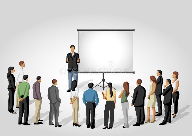 Presentation screen. stock illustration