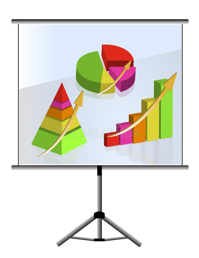 Download Presentation set of graphs stock vector. Image of percentage - 20018550