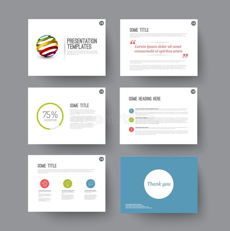 Presentation slides with infographic elements vector illustration