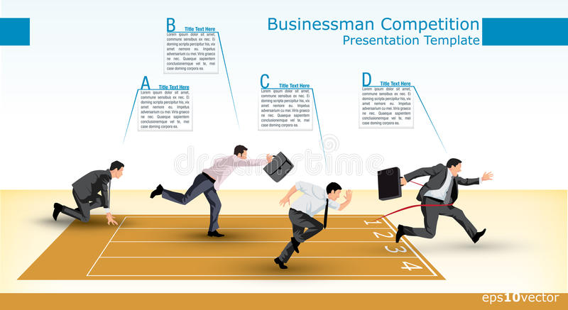 Presentation template of a business competition royalty free illustration