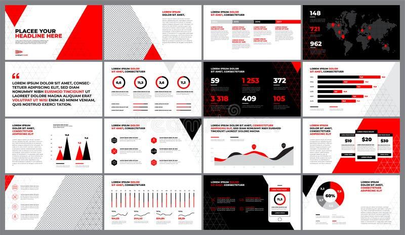 Red Print Design templa royalty free illustration