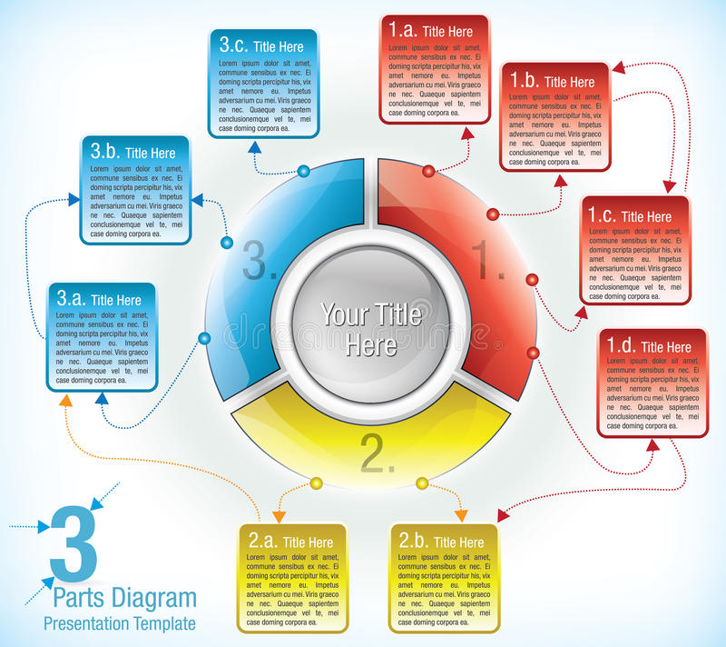 Download Presentation Template Of Segmented Wheel Stock Vector - Illustration: 24215961