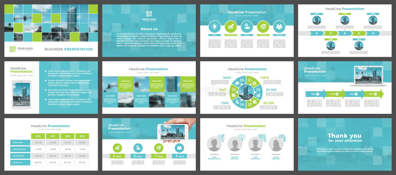 Presentation templates, corporate. Elements of infographics for presentation templates. royalty free stock image