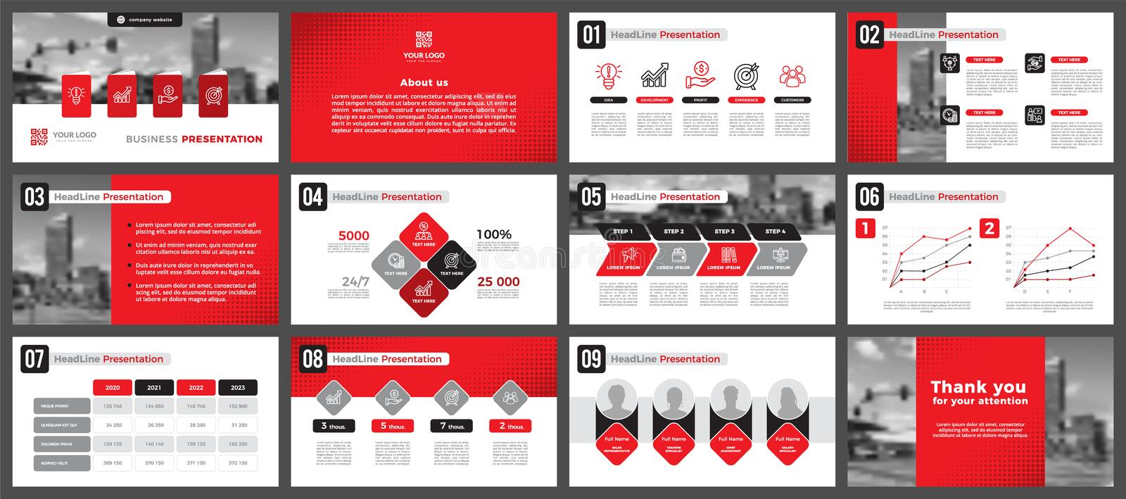Presentation templates, corporate. Elements of infographics for presentation templates. stock image