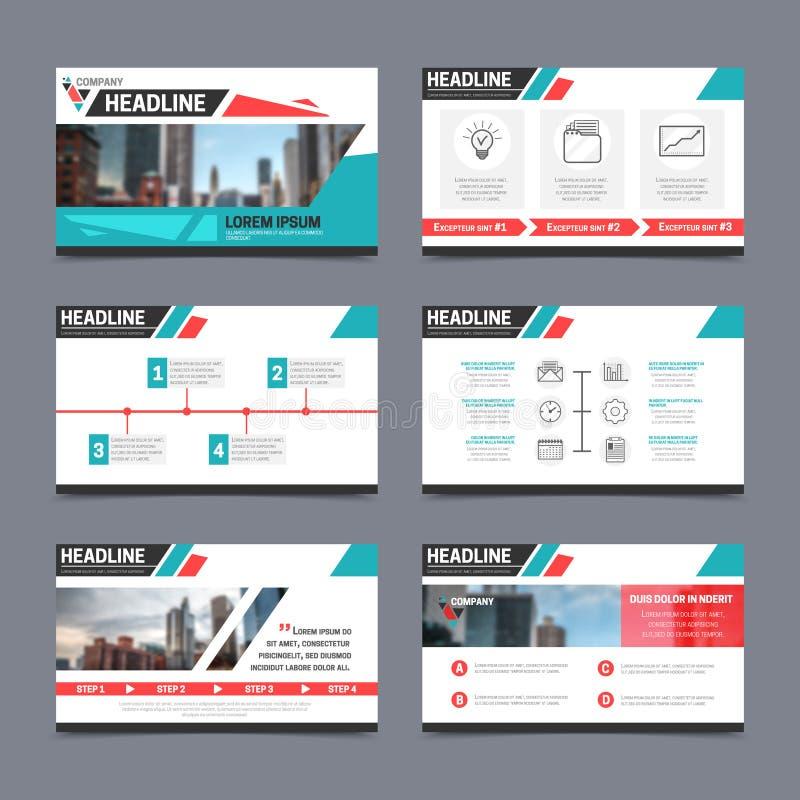 Presentation templates set stock illustration