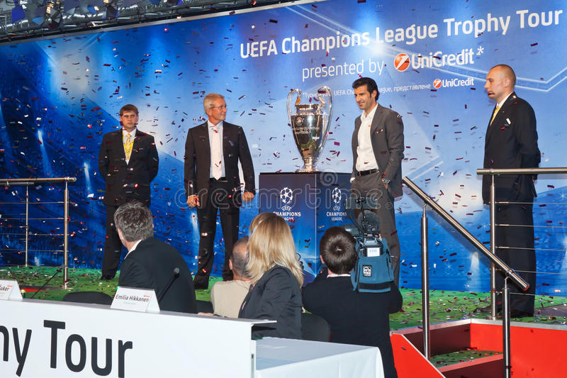 Presentation UEFA Champions League trophy