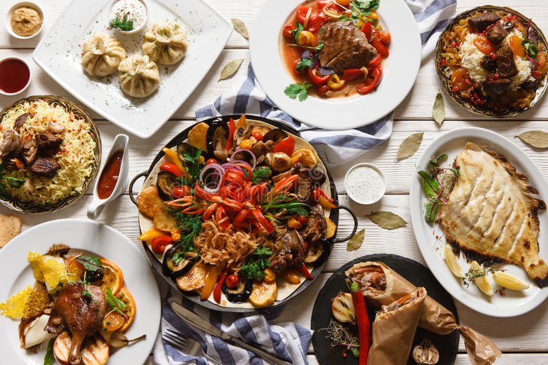 Download Presentation Of Variety Georgian Cuisine Stock Photo - Image of delicious, eating: 97910574