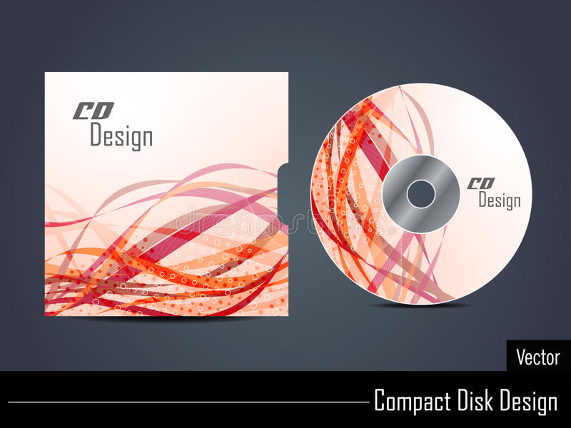Presentation of cd cover design. royalty free illustration