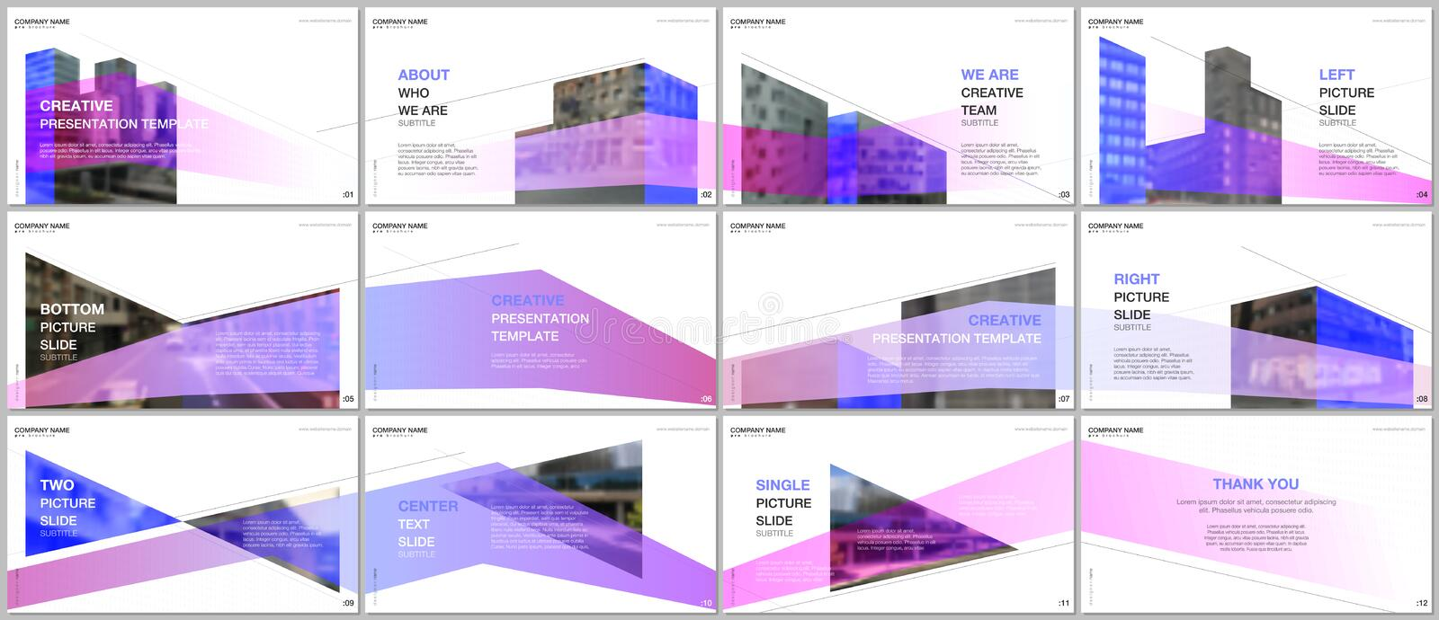 Presentations design, portfolio vector templates with architecture design. Abstract modern architectural background vector illustration