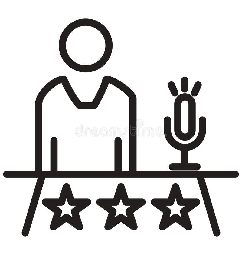Presentationslinjen isolerad symbol kan lätt ändras och redigera royaltyfri illustrationer