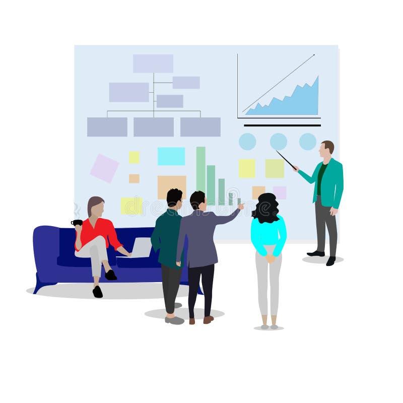 Presentationsrapporter kartlägger och diagrammet vektor illustrationer