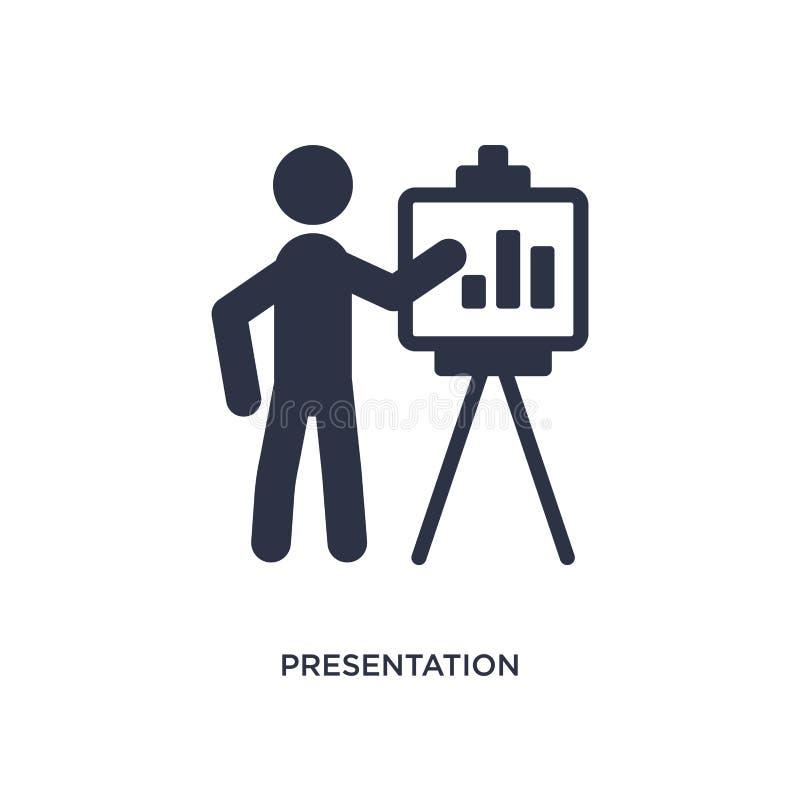 presentationssymbol på vit bakgrund Enkel beståndsdelillustration från strategibegrepp stock illustrationer