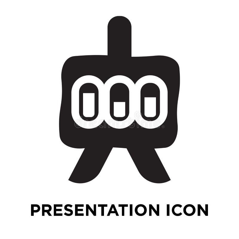 Presentationssymbolsvektor som isoleras på vit bakgrund, conc logo royaltyfri illustrationer