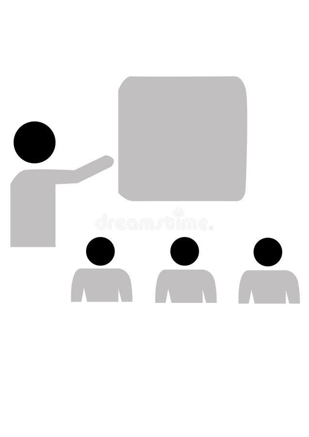 Presentationsvektorfolk royaltyfri illustrationer