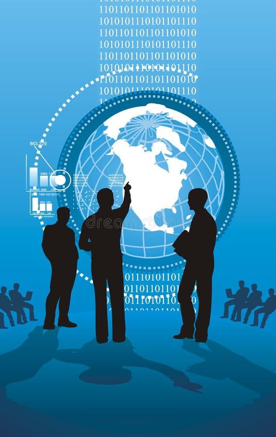 Presentazione alta tecnologia di affari illustrazione di stock