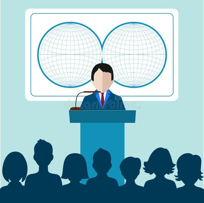 Download Presentazione Congresso Di Affari Gente Di Affari Illustrazione Vettoriale - Illustrazione di corporativo, billboard: 55360598