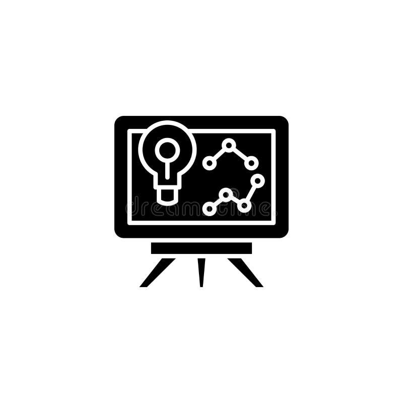 Presentazione del concetto scelto dell'icona del nero di strategia Presentazione del simbolo piano scelto di vettore di strategia illustrazione di stock