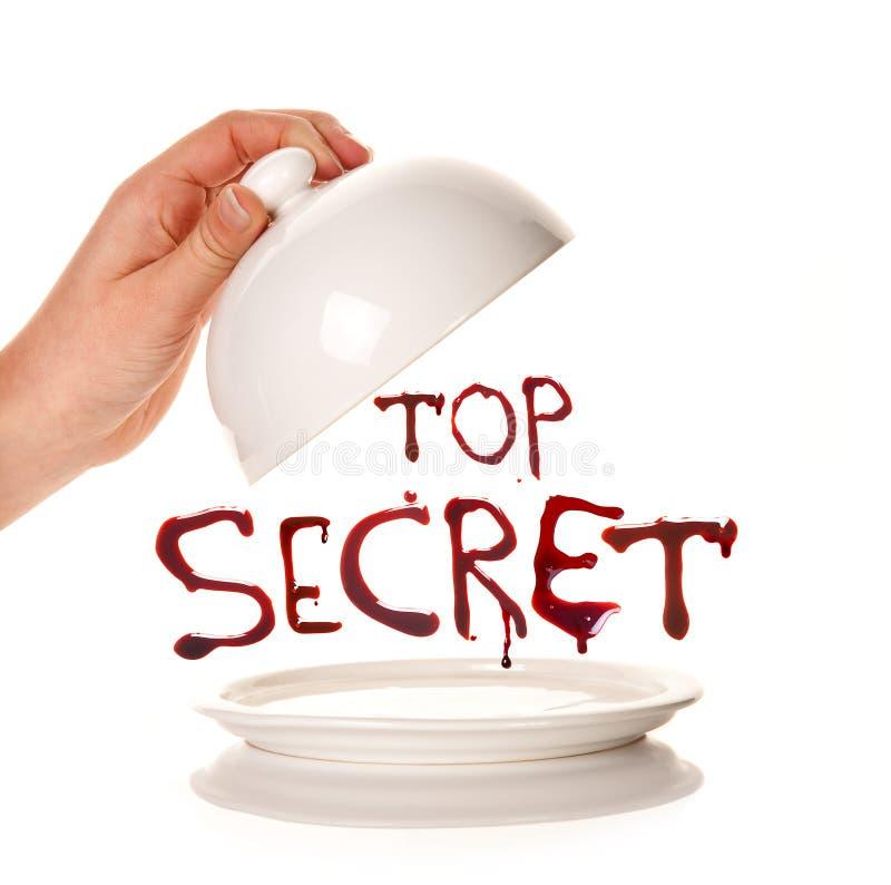 Presentazione del top secret immagine stock