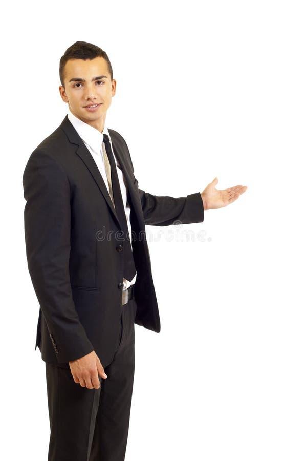 Presentazione dell'uomo d'affari fotografie stock