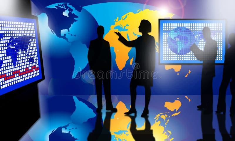 Presentazione di concetto del mondo di affari royalty illustrazione gratis