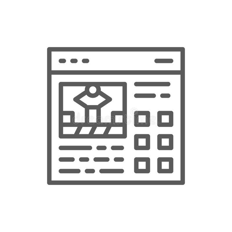 Presentazione di progetto, manuale alla linea icona del meccanismo royalty illustrazione gratis