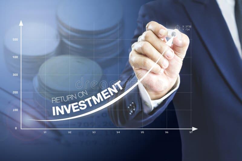 Presentazione di ritorno su investimento immagini stock