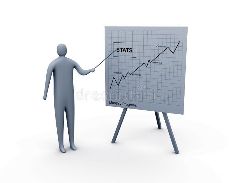 Presentazione di statistiche illustrazione di stock