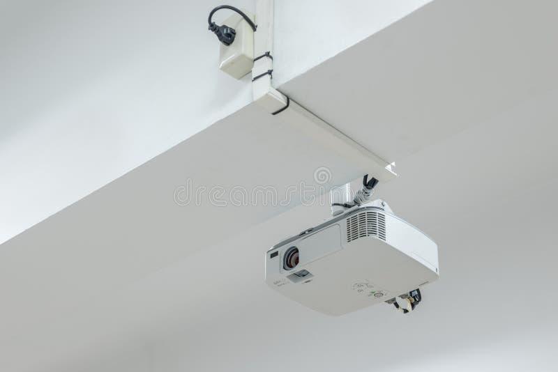 Presentazione di tecnologia di multimedia del proiettore video per home entertainment fotografia stock