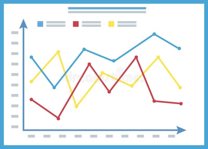 Presentazione Infochart, grafico a bordo del vettore illustrazione vettoriale