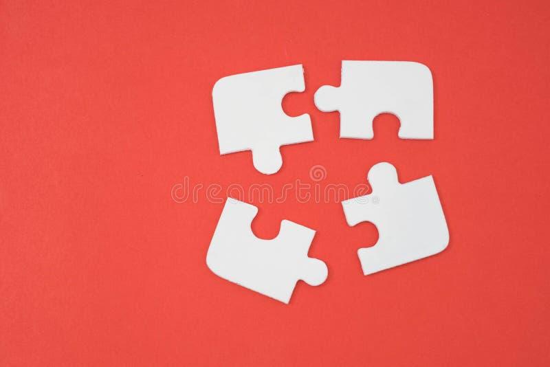 presentazione infographic rotonda del puzzle fotografia stock libera da diritti
