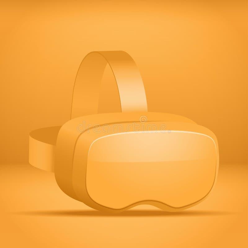 Presentazione stereoscopica della cuffia avricolare di 3d VR illustrazione di stock