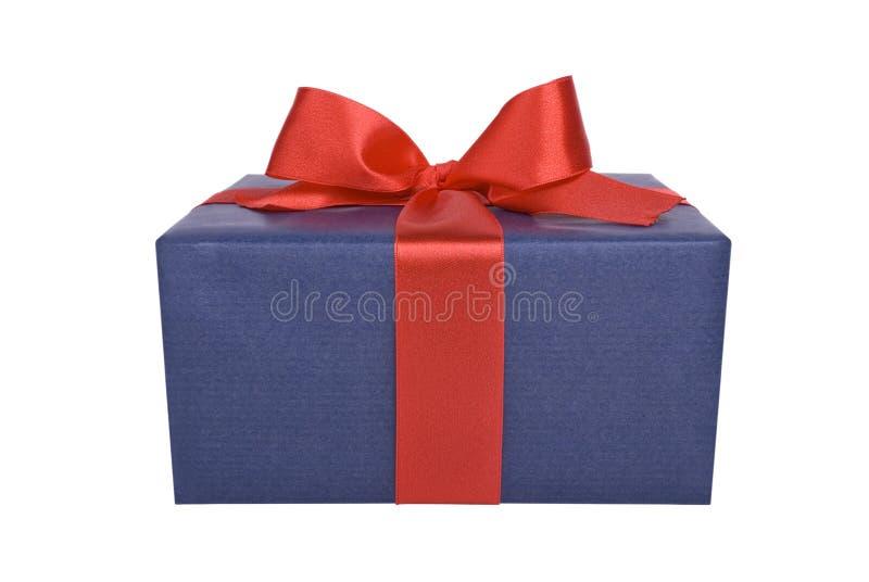 Presente azul foto de stock royalty free