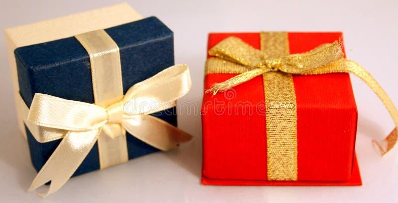Presente Boxes foto de stock