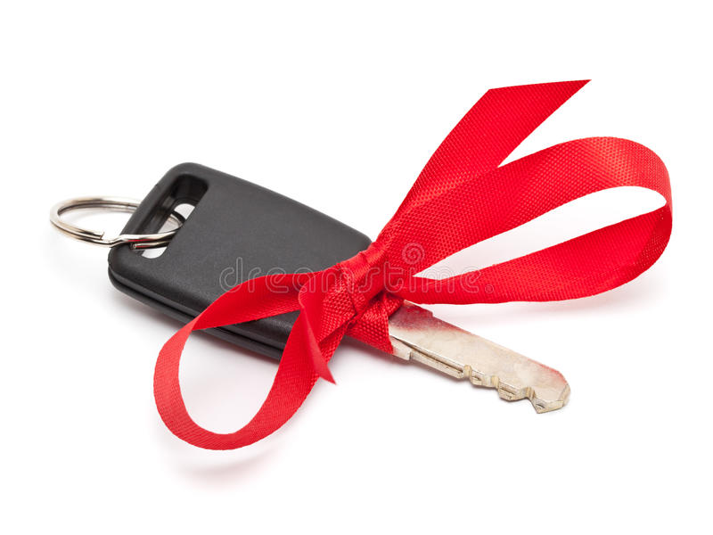 Presente chave do carro fotografia de stock