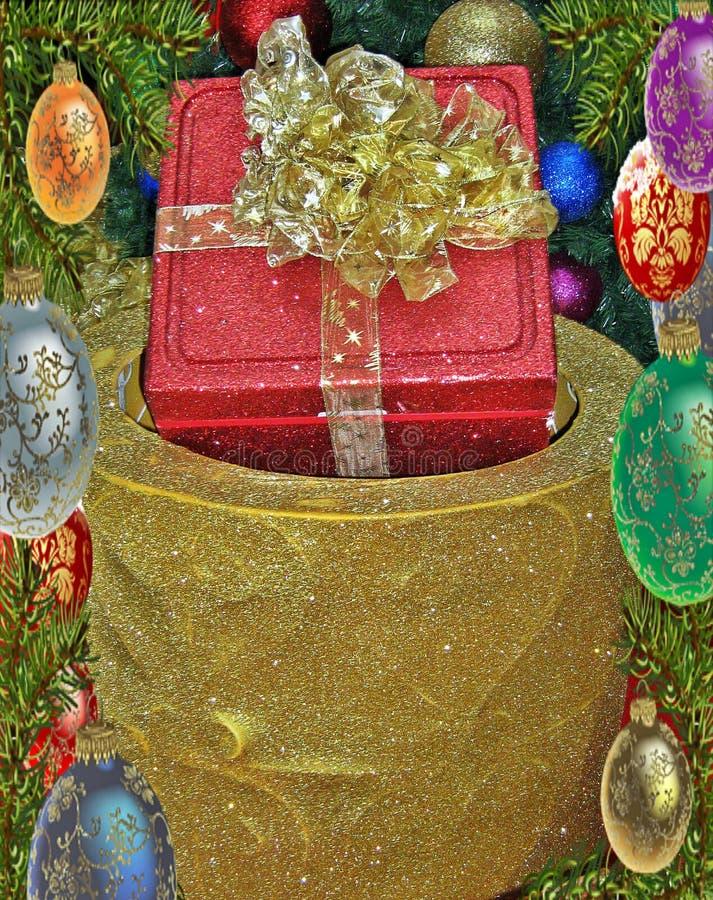 Presente colorido do Natal fotos de stock royalty free