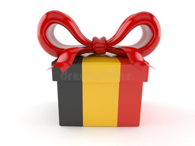 Presente com bandeira belga ilustração stock