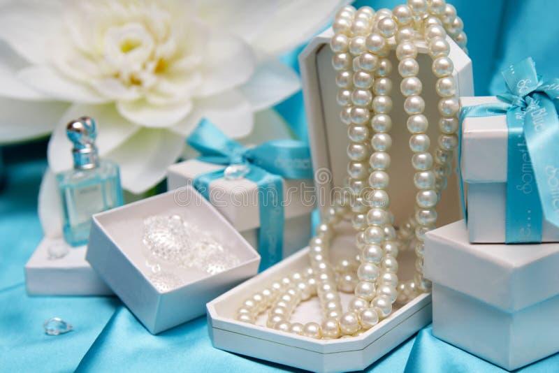 Presente da jóia fotografia de stock