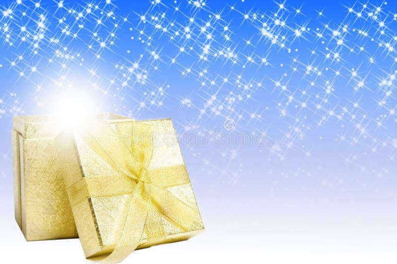 Presente da mágica do Natal fotos de stock royalty free
