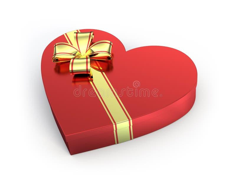 Presente dado forma coração ilustração stock