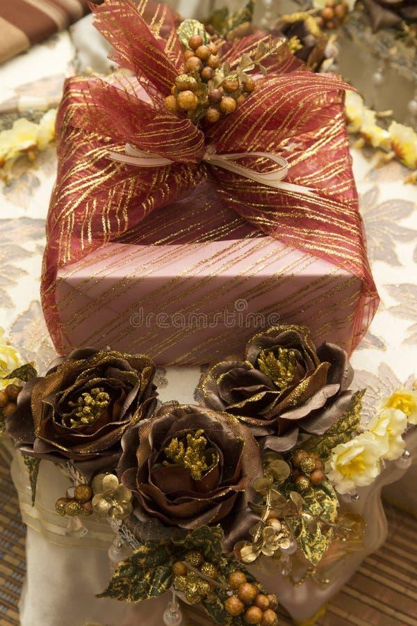 Presente de casamento malaio tradicional fotografia de stock royalty free