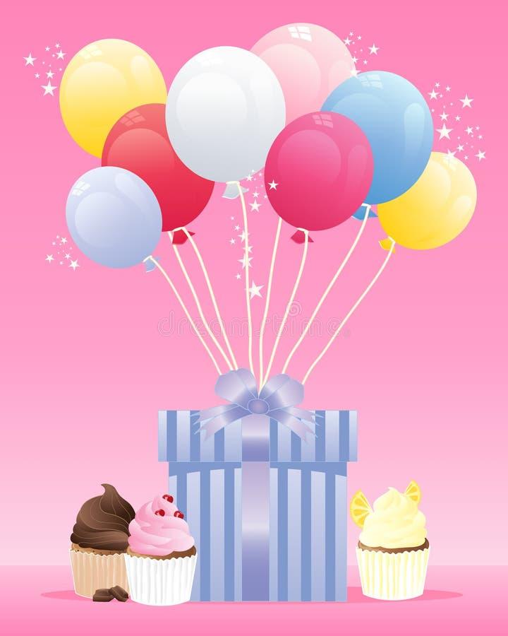 Presente de cumpleaños stock de ilustración
