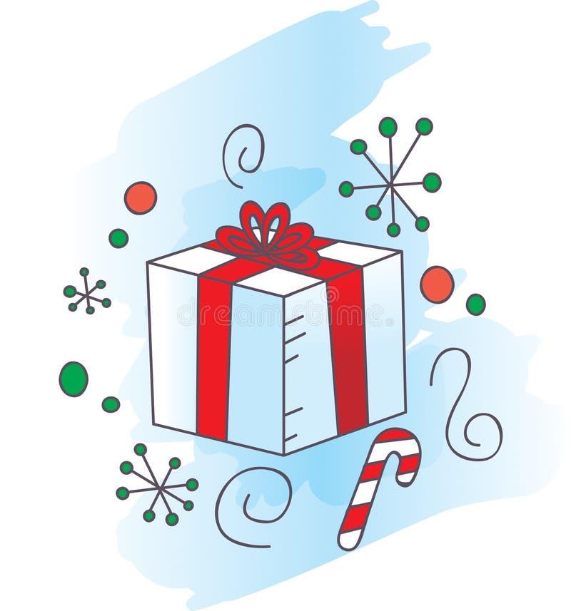 Presente de Natal ilustração stock