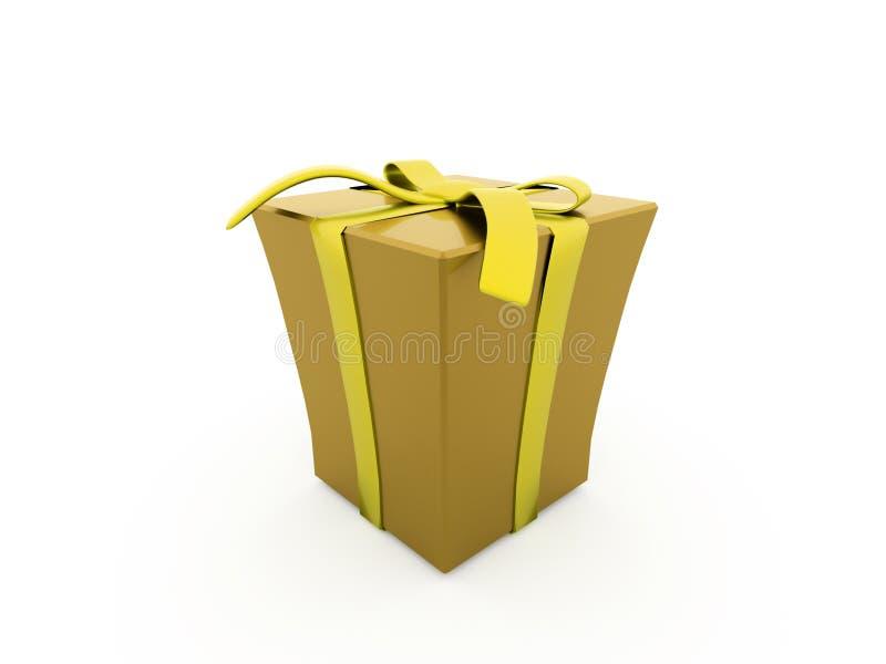 Presente de Natal com fita ilustração royalty free