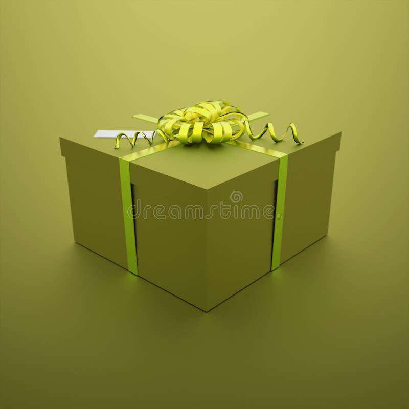 Presente de Natal no verde ilustração royalty free